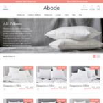 Further 10% off Abode Pillow Range @ Abode Living