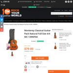 Monterey Classical Guitar Pack Natural Full Size 4/4 MC-139NPAK $79 (Was $115) @ Belfield Music