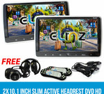 2x10.1 Inch Slim Active Car Headrest DVD Player $284.05 Shipped (Extra 5% off) @ Elinz