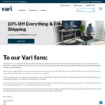 10% off Everything with Free Shipping @ Varidesk