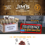 50% off Piri Piri & Chilli Biltong ($50/kg) @ Jim's Jerky (+ Shipping)
