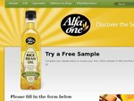 Try a Free Sample of Alfa One Rice Oil (100ml Sample)