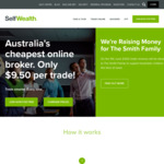 15 Free Trades ($142.50 Value) When Purchasing $240 Annual Pro Membership @ Selfwealth