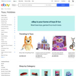 20% off Selected Sellers for Toys & Hobbies, Dolls & Bears, Children & Young Adults Books @ eBay