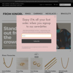 25% off Sitewide + Delivery (Free over $89) @ from Kinori