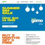 6 Months Mobile Plan for $60 @ GOMO by Optus