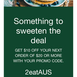 $10 off $20 Minimum Spend @ Uber Eats