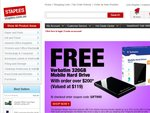 STAPLES COUPON! Free 320GB Verbatim Hard Disk with Purchases > $200