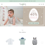 40% off Sitewide (Baby Wear / Clothing) + $9.95 Delivery ($0 with $50 Spend) @ Tiny Twig