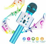Karaoke Blue Wireless Microphone $13.99 (Was $27.99) + Delivery ($0 with Prime/ $39 Spend) @ CREUSA via Amazon AU