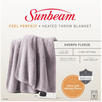 Sunbeam Feel Perfect Sherpa Fleece Heated Throw Blankets $69.95 (RRP $89.95) Delivered ($0 C&C) @ Myer