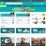 Pet Circle: $20 off $50 Spend (First Order Only) via Little Birdie + $10 off $50 Spend via CommBank Rewards