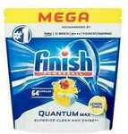 [eBay Plus] 64PK Finish Mega Powerball Quantum Max Dishwashing Tablets $15 Delivered @ KG Electronics via eBay