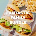 Betty's Classic, Crispy Chicken, Kids Beef Burger, Kids Chicken Burger, 2x Fries $39 @ Betty's Burgers via App