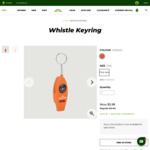 Whistle Keyring (Whistle, Compass, Thermometer & Pull-out Magnifier) $5.98 @ Kathmandu in-Store