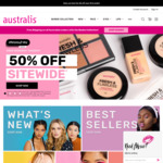 50% off Sitewide (Excludes Clearance Items, Free Shipping with $50) @ Australis Cosmetics