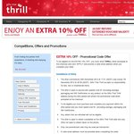 Receive 10% OFF Any Experience at GiftsThatThrill.com.au, Including Already Discounted Offers