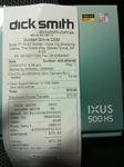 Canon IXUS 500 HS $73.50 at Dick Smith