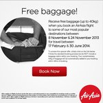 AirAsia - Free Baggage (up to 40kg)
