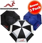 3-Pack - Woodworm 60'' Golf Umbrella $24.95 + $9.95 Delivery