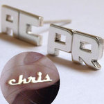 Personalized Name Ear Studs in 925 Sterling Silver Only $12 Delivered @ Matchless Store