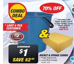 SCA Bucket & Sponge Combo $1, Stanley Tool Kit - 132 Piece $149 + More @ Super Cheap Auto