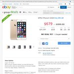 iPhone 6 16GB $679 at eBay Groupbuy (Quality Deals)