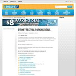 $8 Flat Rate Secure Parking with Secure-a-Spot (Sydney)