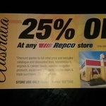 Repco 25% at Any Repco Store One Day Only 31st January 2016, Exclusions Apply
