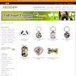 ArtsCow Key Chain, Dog Tag or Sleeping Mask US $0.99 (~$1.40 AUD) with Free Shipping