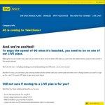 $20 Telechoice LIVE Plan Upgrade - MMS+4G (for Grandfathered Users - Worth Trying for New Users)