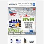 20% off Hemp Oil CBD Extract + $10 Fedex Shipping @ Elixinol.com