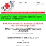 [WA] $99 Nationally Accredited First Aid Training Course (HLTAID003: First Aid & HLTAID001: CPR) @ All Ages First Aid Training