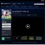 $24.95 FIFA 16 PS4 PlayStation Store Download