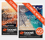 Boost Mobile Half Price SIM - $40 UNLTD+ for $20 Shipped (28 Days, Unlimited Talk+Text, 5GB + 1GB/Weekend Data)