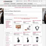 Selected Kenwood Kitchen Machine Attachment $9.99 Each