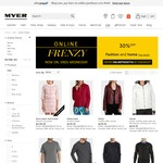 Myer Online Frenzy - 30% off Home & Fashion