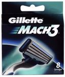 Gillette Mach 3 Shaving Blades Refill 8 Pack - $16.95 @ Shaver Shop / CW $16.15 Price Beat
