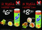 Shuji Sushi Handrolls + Drink Combo Deal Only till 21st Nov. 2010 (VIC)