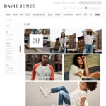 50% off Gap Brand Sale (Discount Applied in Shopping Bag) @ David Jones Online Only Free Shipping if Spend over $100