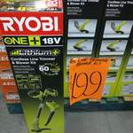 Ryobi 18v Blower, Whipper Snipper, 4ah Battery and Charger $199 @ Bunnings Coffs Harbour NSW