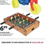 Tabletop Soccer (Foosball) Game $16.99 @ ALDI Special Buys
