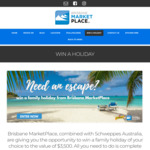 Win a $3,500 Flight Centre Travel Group Gift Card from Brisbane MarketPlace