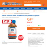 Ethical Nutrients Inner Health Plus 90 Capsules $37.99 @ Good Price Pharmacy (Free Delivery for $20+ Orders* Ends 14th January)