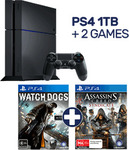 PlayStation 4 1TB Console Bundle with 2 Games $339 EB Games