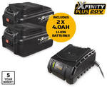 Xfinity 20V 5 Piece Tool Set (Impact Driver, Drill, Grinder, Saw, Torch + Batteries) $199 @ ALDI