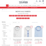TM Lewin: Mens Shirt's 5 for $150 with Free Delivery