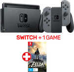 Nintendo Switch + Zelda BOTW $412.25 Delivered @ EB Games eBay (eBay Plus Members)