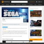 Win a SEGA Prize Pack Worth over $600 from Fanatical