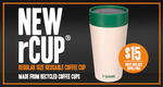 rCup Regular Size Reusable Cup $15 with First Regular Coffee Free @ 7-Eleven